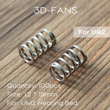 100Pcs 3D Printer Accessories UM2 Spring Fine Print Platform Edging 1.2 * 15mm For UM2 Heating Bed Flat Adjusting Sping