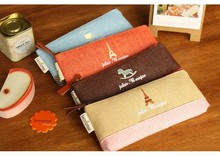 2016 New Kawaii Linen & cotton Pencil Case Cute Coin Purse Storage Pouch Organizer Cosmetic Bag Schoolbag Free Shipping 3002(China)