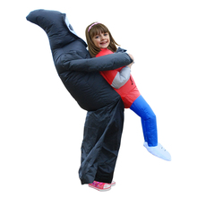 Grim Reaper Scary Suit Inflatable Illusion Skull Kid Adult Halloween Costumes for Women Men Cheap Ghost Skeleton Fancy Dress