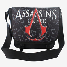 Cartoon Assassins Creed Unisex Messenger Bag Shoulder School Notebook Bookbag(China)
