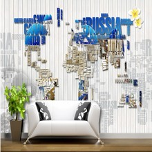 Photo wallpaper Greek Mediterranean alphabet map White Wooden Retro Nostalgic Backdrop wallpaper living room restaurant mural(China)