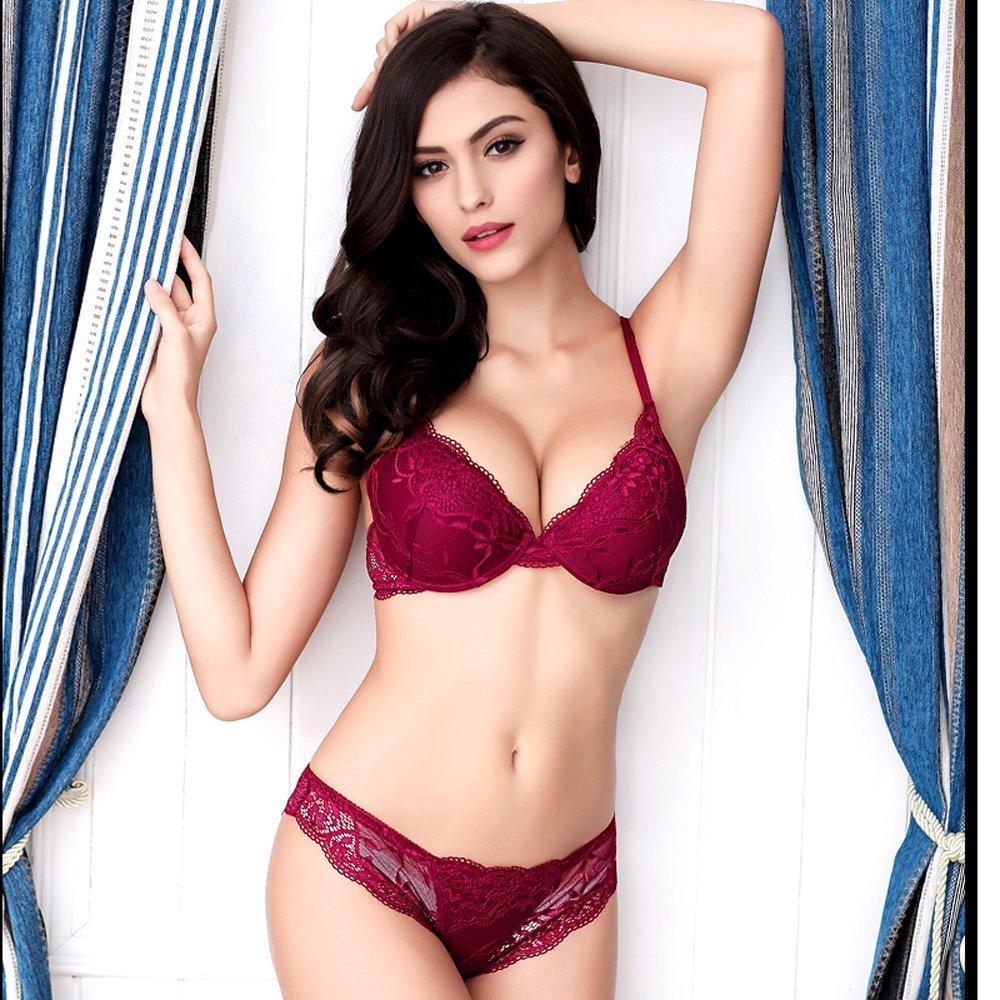 Newest Women Lingerie Sexy Lace Bra Set Transparent Sexy Push Up Bra Women Underwear Sexy Bra&Panty Sets 4