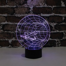 YJM-2824 Amazing 3D Illusional Night Light 3d Airplane Shape Light with LED Buld Power