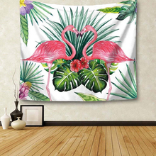 Tropical Leaf Flamingo Pattern Wall Art Hanging Tapestry Decorative Sofa Chair Cover Fashion Beach Towel Table Cloth MA975879(China)