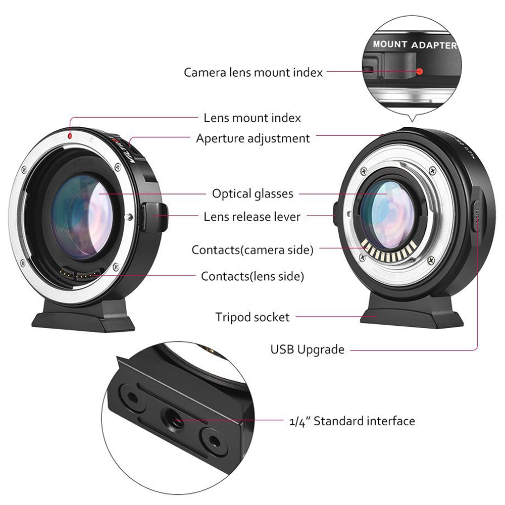 INSEESI-VILTROX-EF-M2-Auto-Focus-Lens-Mount-Adapter-0-71X-for-Canon-EOS-EF-Lens