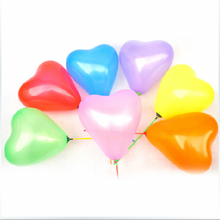 200 Pcs/lot Nature Length 7 inch Love Heart Balloons 6 Colors ballon For Wedding Birthday Party supplies Inflatable air globos