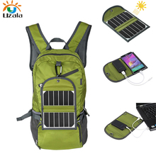 Super Light Solar Charger bag, solar backpack For Mobile phone, Gopro Cameras 6V Device include 2000mAh lithium battery(China)