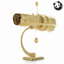 Pandamodel@3D Metal Model Puzzles HUBBLE TELESCOPE golden Chinese jigsaw brass Etching assembly Creative gifts(China)
