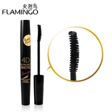 Free Shipping China Top Mascara Brand Flamingo Waterproof Lengthening Curling Thick Eyelash 4D Extremely Long 7.5ml Mascara 6368(China)