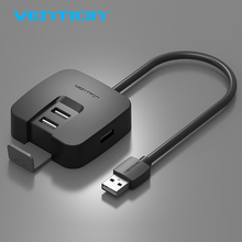 Vention 4 Port USB HUB 2.0 High Speed External USB 2.0 Splitter Switch for Laptop Card Reader PC Tablet(China)