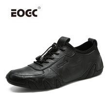 Buy Genuine leather men casual shoes British style Lace flats Fashion designer breathable men shoes sneakers for $34.88 in AliExpress store