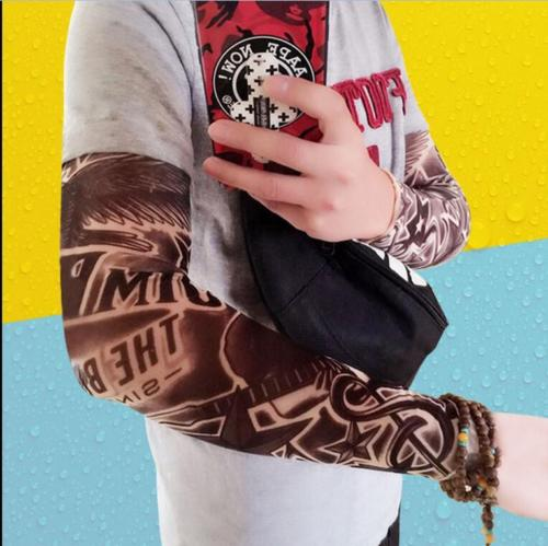 Tattoo Print Arm Sleeves Cool Hipsters Accessory Fashion Fake Tatoo Cover Sun Protection Carnival Costume Arms Warmers In From Men S