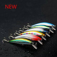 2017 Hot Sale Quality 125mm 40g Fishing Lure Minnow Laser Hard Professional Baits Swim Bait Artificial Baits Equipped VMC Hooks
