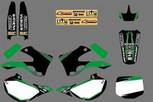 GRAPHICS & BACKGROUNDS DECALS STICKERS Kits For Kawasaki KX125 KX250 1999 2000 2001 2002 KX 125 250