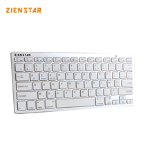 Zienstar AZERTY French Language Ultra slim Wireless Keyboard Bluetooth 3.0 for ipad/Iphone/Macbook/PC computer/Android tablet(China)