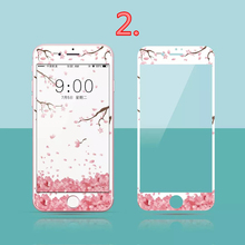 100 pcs Cartoon images soft edge Full Cover Tempered Glass for iPhone 7 phone Screen Protective Film For iphone 7 plus Cover(China)