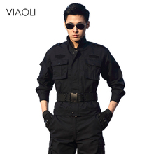 Military Uniforms Army Black Clothing Men Tactical Pants With Knee Pads Uniforme Militar Combat CS Tatico Clothes Fardas Militar(China)