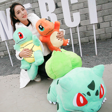 Big size Squirtle/Charmander/Bulbasaur plush kids toys High quality stuffed dolls for Children Christmas Gift Girlfriend gift(China)