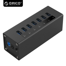 Orico Aluminum 7 Ports High Speed USB 3.0 HUB With VL812 Chip Support Charging function for PC Laptop A3H7-V1(China)