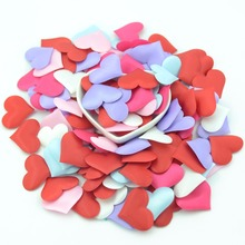 100pcs / lot Sponge Love Petal Flower Wedding Decoration DIY Holiday Party Accessories Decorative Multicolored Paper Scraps(China)