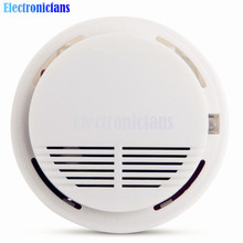 Free Shipping White Wireless Alarm Photoelectric Sensor Fire Smoke Detector For Home Public Places Security 102*31mm