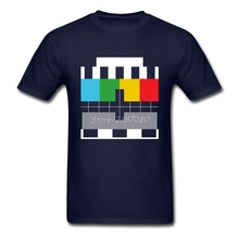 TV Test Card T Shirt Short Sleeve Custom Men's T-shirt Pop Cool O-neck Cotton XXXL Colour Men T-shirt(China)