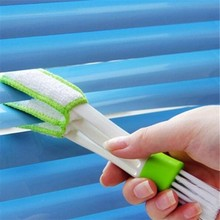 New Design Car Air-condition Cleaner Computer Keyboard Dust Collector Cleaning Brush Window Leaves Blinds Cleaning Duster Brush