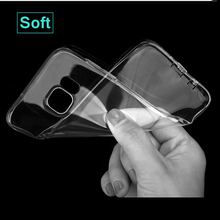 Clear Soft Cover Case For Samsung Galaxy S2 Plus S3 S4 S5 S6 S7 Edge J5 J2 J7 Prime Grand Prime Plus A5 A3 2016 2017 Bags Coque(China)