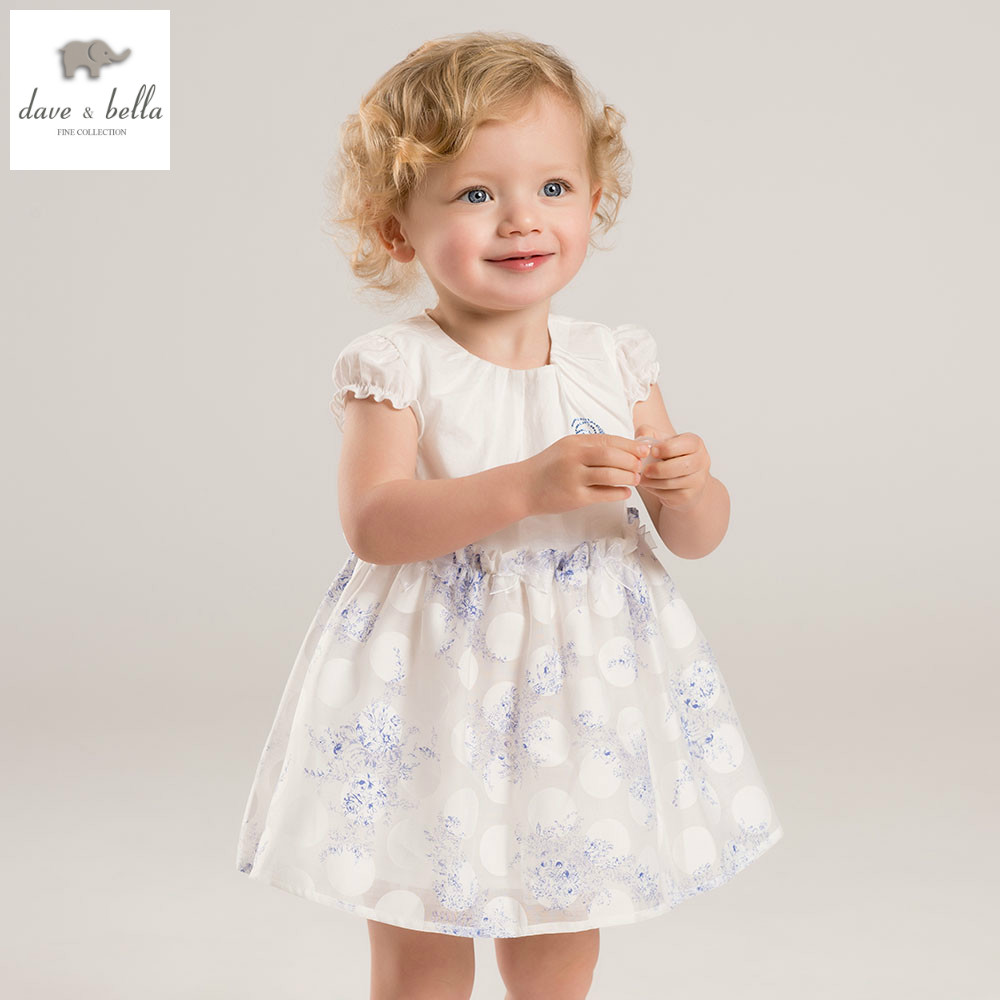 DB5600 dave bella summer baby girls princess wedding birthday dress cute clothes  children dress<br>