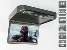 "13.3 "" Flip down (roof mount) DVD monitor (HDMI, USB) with integrated DVD player  AVS440T. Built-in LED backlight.(Grey)"