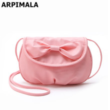 ARPIMALA Cute Bow Crossbody for Girls Leather Pink Handbags Women Mini Mobile Phone Pouch Candy Color Change Bags Messenger Bags