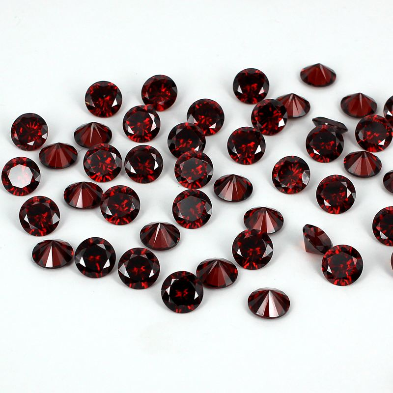 Siam Color Brilliant Cubic Zirconia Stones Round Shape Pointback Beads Supplies For Jewelry 3D Nails Art DIY Decorations 4-18mm<br>