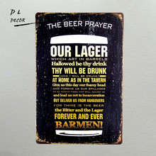 DL- The Beer Prayer Vintage Metal Tin Sign Retro Bar Home Pub Shop Wall Decor(China)