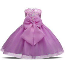 Baby Girl Dress Children Toddler Girl Clothes Wedding Bridal Tulle Party Prom Gown Designs Formal Kids Dresses For Girl Size 8