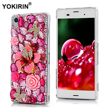 Buy YOKIRIN Rhinestone Case 3D Bling Diamond Capa Transparent Funda Protective Back Cover Hard PC Phone Case Sony Xperia Z3 for $4.04 in AliExpress store