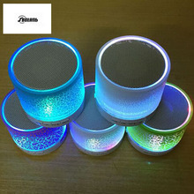 Mini LED Bluetooth Speakers Wireless Small Music Audio TF USB FM Light Stereo Sound Speaker For Phone with Mic