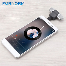 FORNORM Mini Recording Microphone Portable With 3.5mm Digital Stereo Mic Recorder for Computer Smart Phone Singing Software(China)