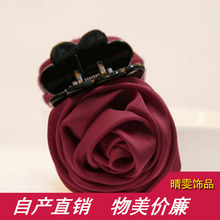 2017 Direct Selling Korean Rose Hairpin Grip Cloth New Jewelry Korea Female Wholesale Shop Hair Accessories Freeshipping