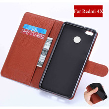 AXD Brand Redmi 4X Case Cover Flip Stand Leather Wallet Cases For Xiaomi Redmi 4X Redmi 4 X hongmi 4x 5.0'' Phone Bag Cover