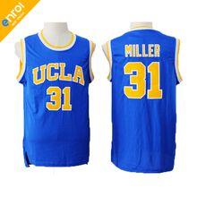 Cheap Mens Reggie Miller Jersey 31# UCLA College Basketball Jerseys Stitched Blue Throwback Free Shipping(China)