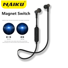 2017 New NAIKU HT3 Wireless Headphone Bluetooth Earphone Magnetic switch For Phone Neckband Ecouteur Auriculares Bluetooth V4.2(China)