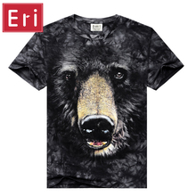 2017 New Fashion 3D Wolf T shirt Men Space Galaxy T shirt Cartoon Tees Men/Women Summer Tops Short Sleeve Camisetas Bear X548