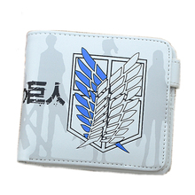 Attack on Titan/Tokyo Ghoul/GINTAMA/Naruto Unisex Anime Short Wallet Pu Leather Cartoon Portefeuille Purse Passport Card Holder