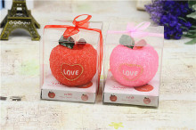 2piece / box love apple candle molding process simulation Christmas gift ideas New