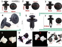 HARBLL 100pcs Car bumpers; fender fender liner expansion clips snap, automotive fasteners, mixing