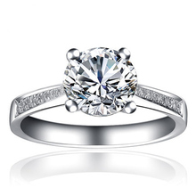 ANI 18K White Gold (AU750) Wedding Ring 0.5 CT Certified I/SI Round Cut Natural Diamond 4 Claws Band Fashion Engagement Jewelry