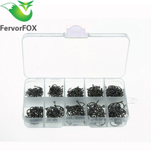 500 Pcs Fishing Hooks Have #3-12 Size with Box Set Fishing Gear Equipment Accessories Pesca Anzol Fishing Tackle Set
