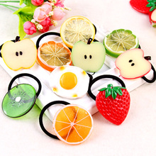 Big Size New Fashion Cute Lemon Hair Ropes Fruit Elastic Hair Rubber Bands For Women Girls Hair Ornaments Accessories Headbands(China)