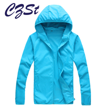 CZSt  Outdoor Hiking Softshell Jacket Quick Drying Skin Windbreaker Sun Protection Clothing Men Women Ultra-Thin Waterproof