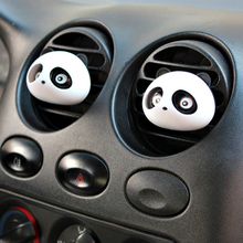 1 Pair Black Cute Panda Car Air Freshener For Car Styling Automobile Perfumes 100 original Flavoring in the car Accessories(China)